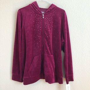 Style & Co Sport Zip Up Hoodie Sweatshirt NWT